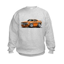 Challenger Orange Car Sweatshirt