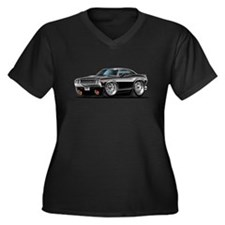 Challenger Black Car Women's Plus Size V-Neck Dark