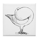 Holle Cropper Pigeon Tile Coaster