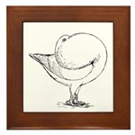 Holle Cropper Pigeon Framed Tile