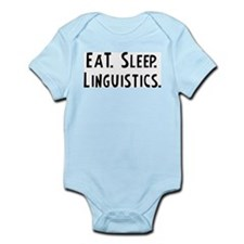 Eat, Sleep, Linguistics Infant Creeper