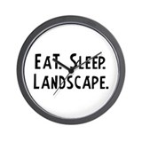 Eat, Sleep, Landscape Wall Clock