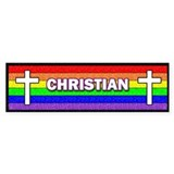 """Christian"" on a field of the Gay Pride"