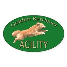 Golden Retriever Agility Green Decal