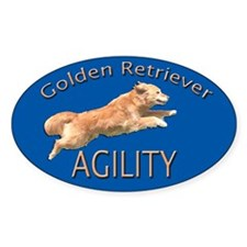 Golden Retriever Agility Blue Decal