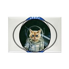 Astro Cat Rectangle Magnet