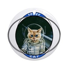 Astro Cat Ornament (Round)