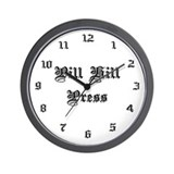 Pill Hill Press Wall Clock