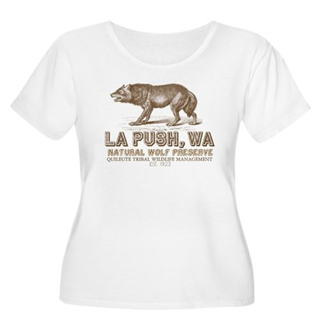 La Push Wolf Preserve Women's Plus Size Scoop Neck
