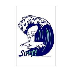 Surf! Mini Poster Print