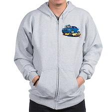 Chrysler 300 Steel Blue Car Zip Hoodie