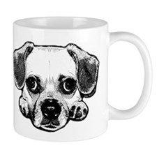 Black & White Puggle Coffee Mug
