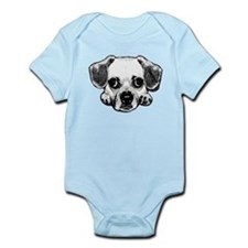 Black & White Puggle Infant Bodysuit