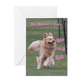Golden Retriever Mother's Day Card 'Whip'