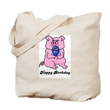 HAPPY BIRTHDAY PINK PIG Tote Bag