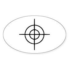 Crosshairs - Gun Oval Decal