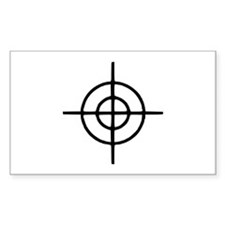 Crosshairs - Gun Rectangle Sticker 10 pk)