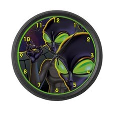Dark Aliens Large Wall Clock