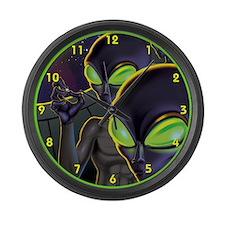 Dark Aliens Large Wall Clock