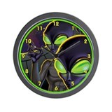 Dark Aliens Wall Clock