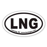 Lansing North Carolina LNG Euro Oval Sticker