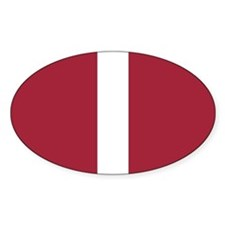 Alabama White Stripe Oval Sticker (10 pk)