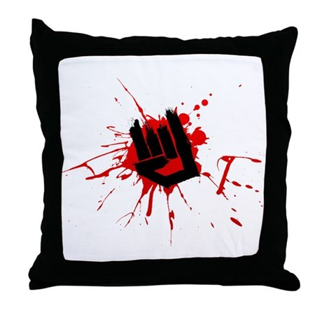 Rock Horns Throw Pillow