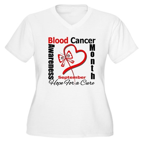 Lymphoma Awareness Month v4 Women's Plus Size V-Ne