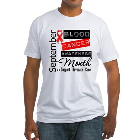 Blood Cancer Month v3 Fitted T-Shirt