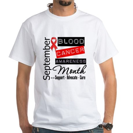 Blood Cancer Month v3 White T-Shirt