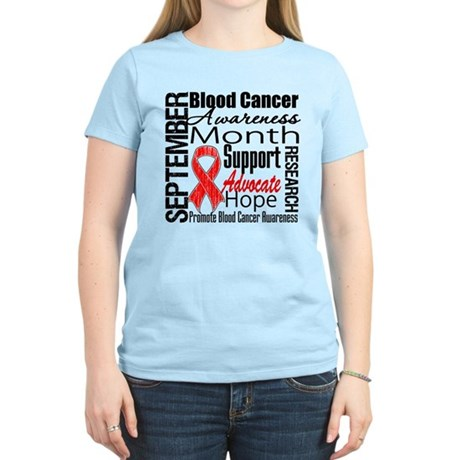 Blood Cancer Month v2 Women's Light T-Shirt
