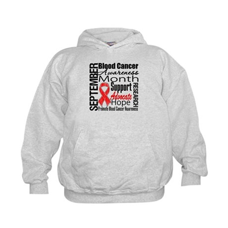 Blood Cancer Month v2 Kids Hoodie