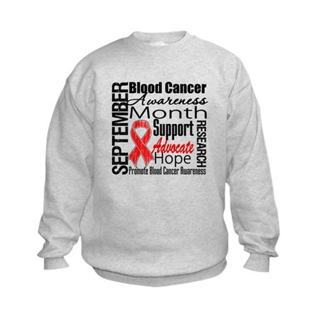 Blood Cancer Month v2 Kids Sweatshirt