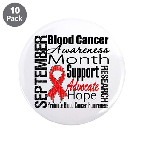 "Blood Cancer Month v2 3.5"" Button (10 pack)"