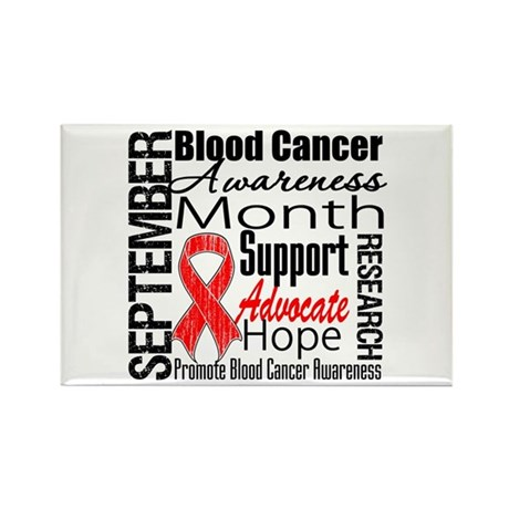 Blood Cancer Month v2 Rectangle Magnet (100 pack)