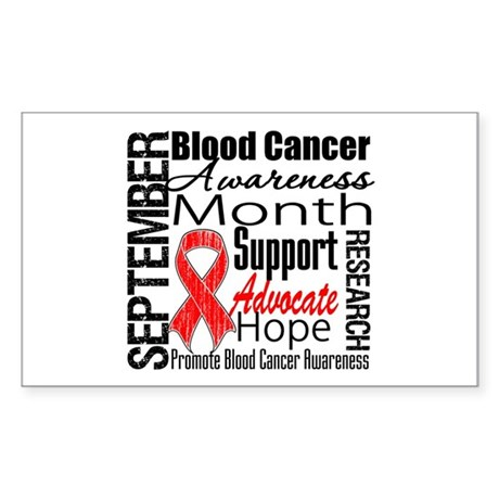 Blood Cancer Month v2 Rectangle Sticker 50 pk)