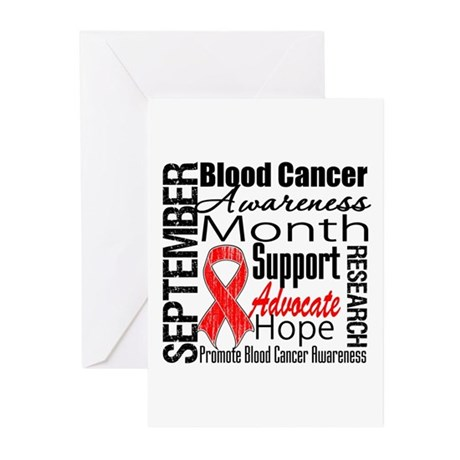 Blood Cancer Month v2 Greeting Cards (Pk of 10)