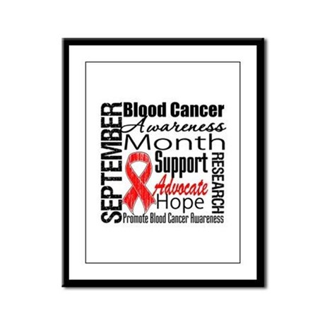 Blood Cancer Month v2 Framed Panel Print