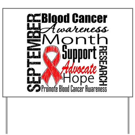 Blood Cancer Month v2 Yard Sign
