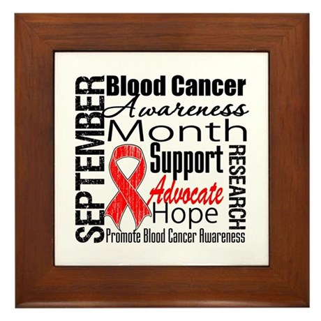 Blood Cancer Month v2 Framed Tile
