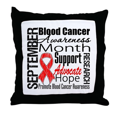 Blood Cancer Month v2 Throw Pillow