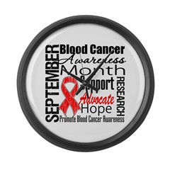 Blood Cancer Month v2 Large Wall Clock