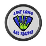 Live Long And Prosper Large Wall Clock