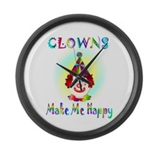 Clown Large Wall Clock