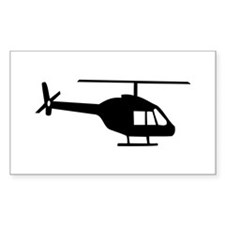 Helicopter Rectangle Sticker 10 pk)