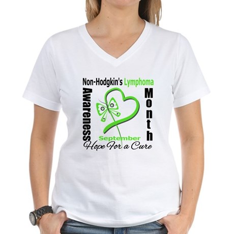 NonHodgkinsAwarenessMonth Women's V-Neck T-Shirt