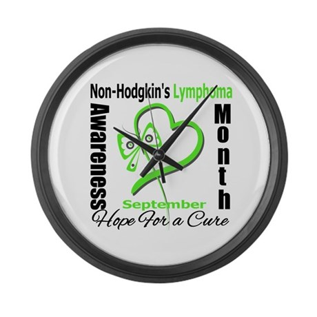 NonHodgkinsAwarenessMonth Large Wall Clock