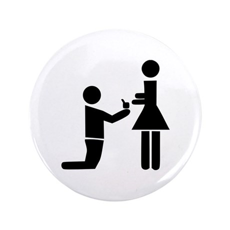 "Wedding Proposal 3.5"" Button"