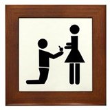 Wedding Proposal Framed Tile