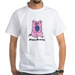 HAPPY BIRTHDAY PINK PIG White T-Shirt